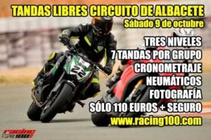 Tandas moteras en Albacete, por Racing 100