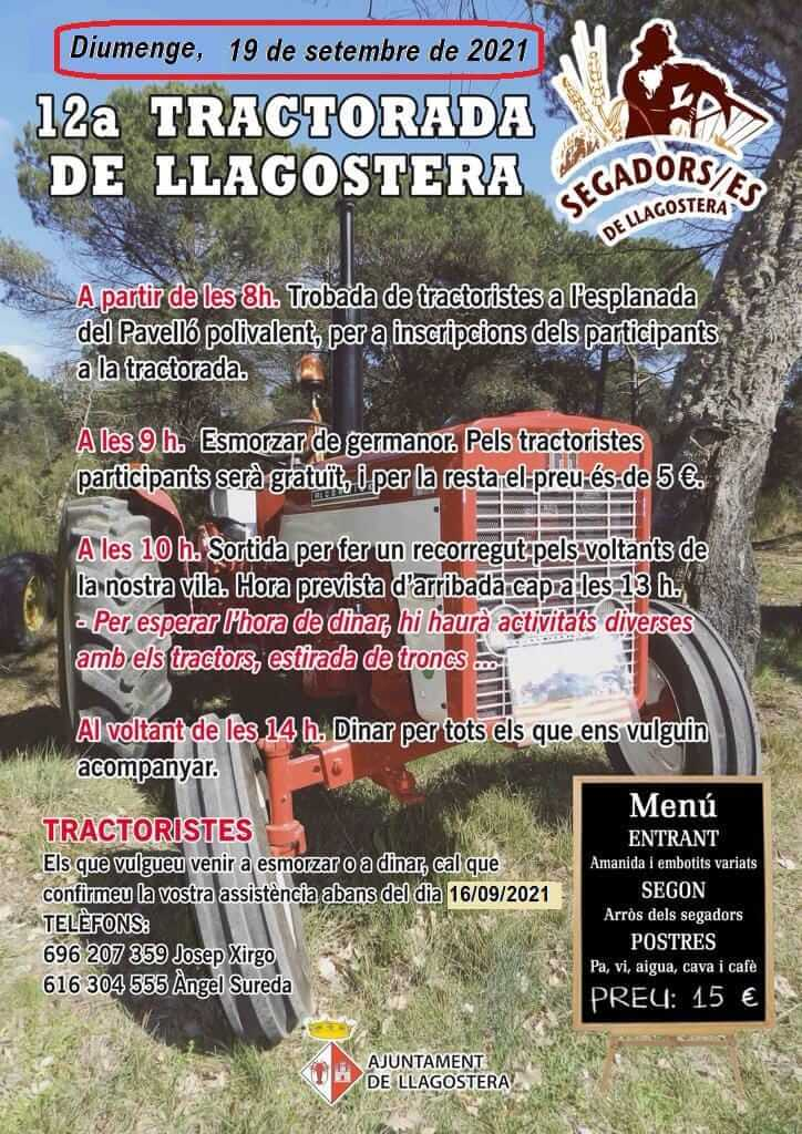 Concentración Tractorada de Llagostera, Girona