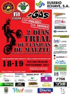 Trial moto clásicas en Maeztu, Álava