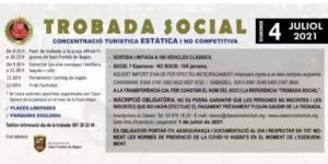 Trobada Social en Sant Fruitós de Bages, organizada por Clàssic Motor Club