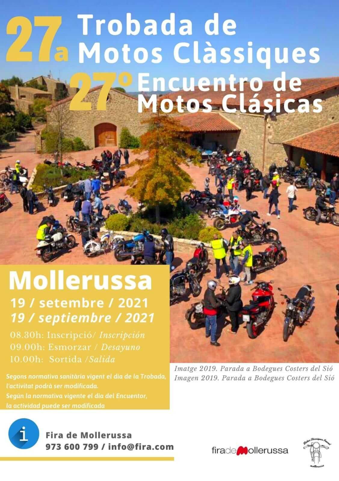 Trobada Motos Clàssiques Mollerussa, Lleida