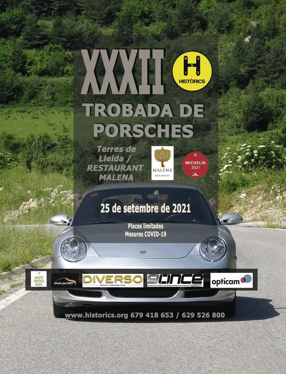 Trobada de Porsches en Torres de Lleida, por Historics