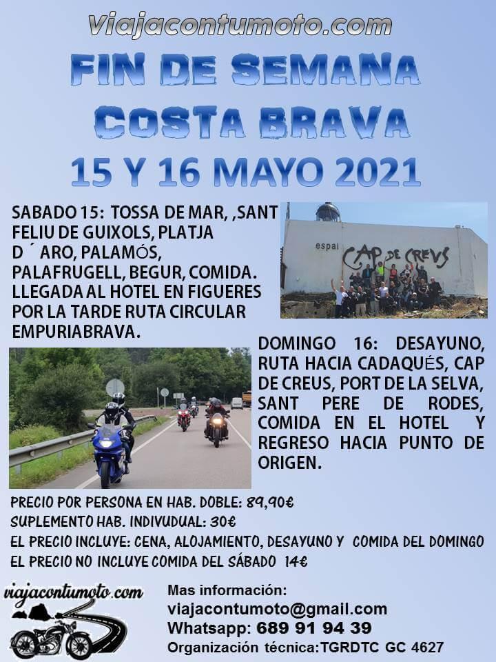 ruta motera en Costa Brava Viajacontumoto